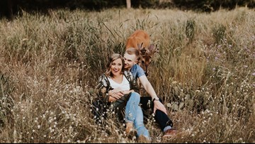 Picture Perfect | Adorable deer photobombs engagement shoot