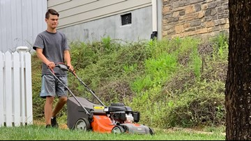 North Carolina teen mows lawns for elderly, disabled, and veterans for free