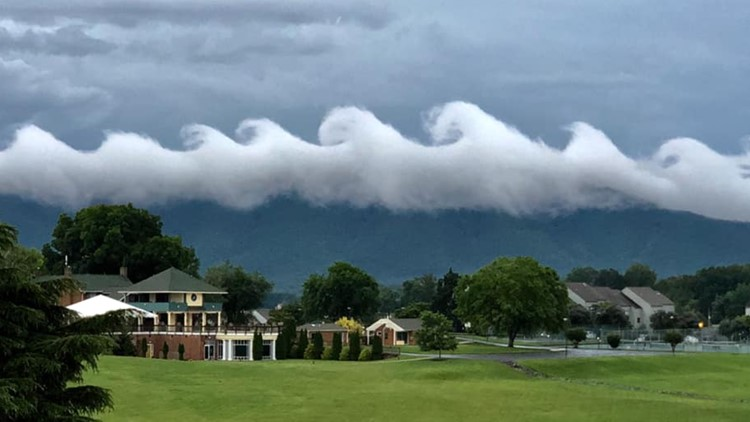 Wave-Like Clouds at Smith Mountain Lake