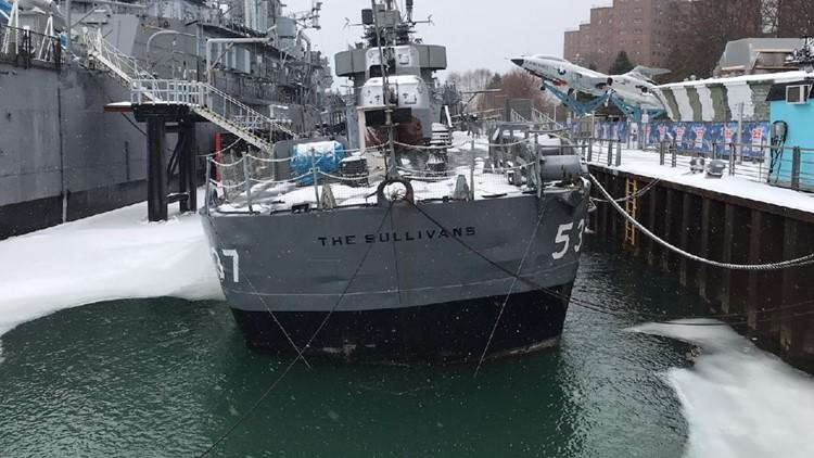 USS The Sullivans is in danger of sinking