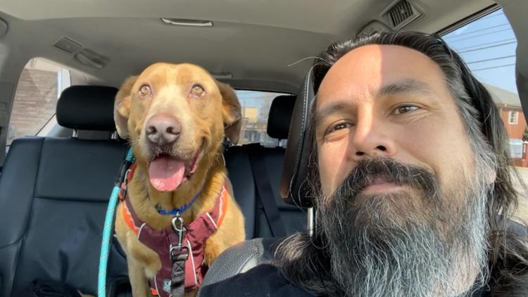 Man reunites in Cleveland with dog that had been missing for 4 years