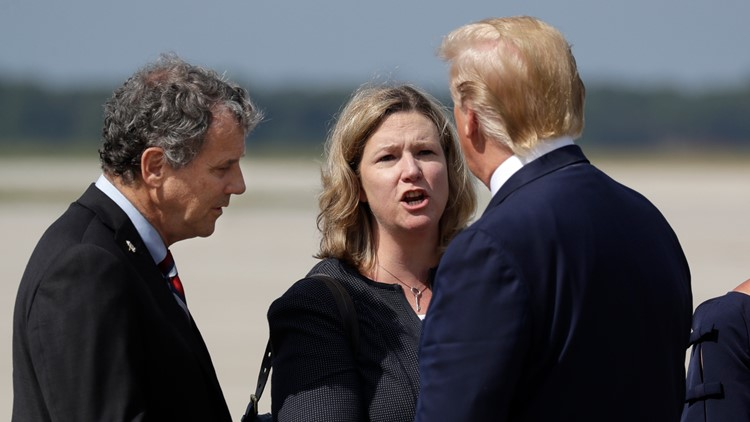 Sherrod Brown Nan Whaley President Trump