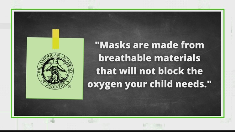 VERIFY: Masks do not reduce oxygen intake for kids