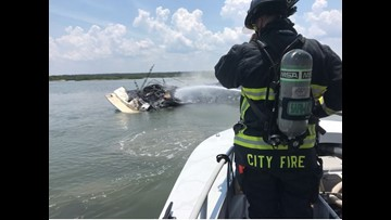 PHOTOS: Boat catches fire in Intracoastal Waterway, Matanzas
