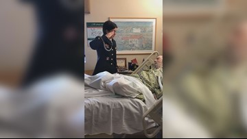Hundreds gather at dying Jacksonville veteran's bedside thanking him for service
