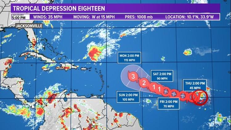 TROPICS: Tropical Depression 18 has formed