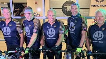 1,000 miles in 11 days; Navy SEALs on a mission to help those in need by riding bikes down the East Coast