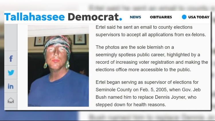 Florida's secretary of state resigns after photos emerge of him