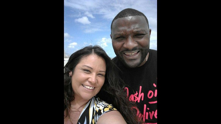 """Jackie Cogdell and his new wife Suzanne. He says some people urged him to wait, but he wanted to """"be right standing with God."""""""