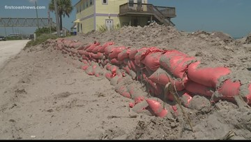 Officials working on protective measures to combat flooding on A1A near Vilano Beach