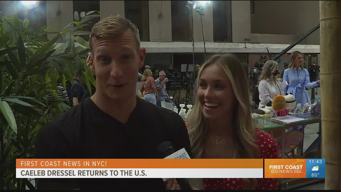 'I'm excited to get home': Caleb Dressel speaks with First Coast News after returning to the U.S.