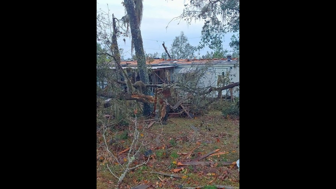 Photos of downed trees, powerlines after reported tornado in Putnam County