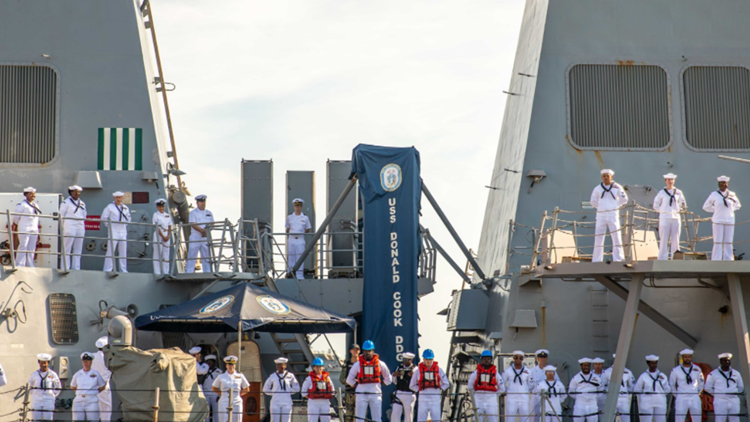 Welcome home sailors! Three ships arrive at Naval Station Mayport