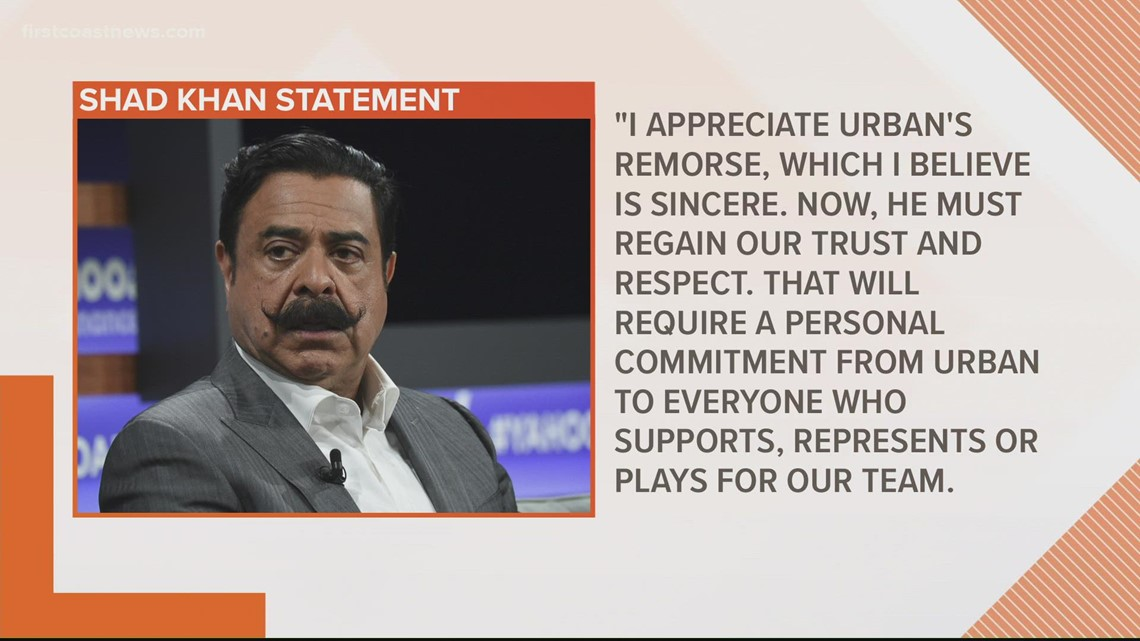 Shad Khan releases statement on viral video of Jags head coach Urban Meyer