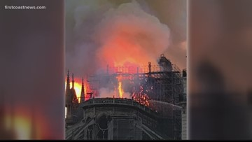 Yulee man vacationing in Paris witnesses Notre Dame Cathedral catch fire