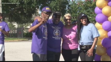 Local church walks to raise money to help students go to college