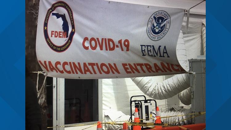 Gateway, satellite vaccinations sites will reopen at 10 a.m.