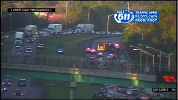 Crash with serious injuries on I-295 North causes delays