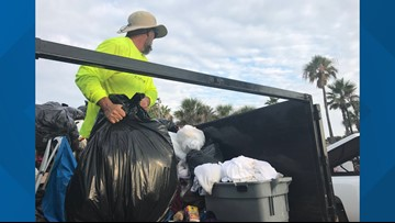 Volunteers clean up First Coast beaches after litter left behind from Fourth of July celebrations