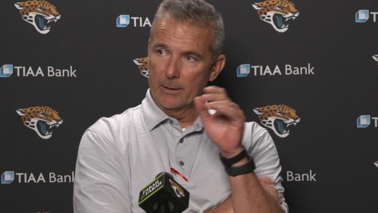 Jaguars Head Coach Urban Meyer talks about decision to name Trevor Lawrence starting quarterback