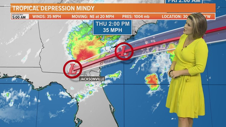 Tracking Mindy: Now a Tropical Depression as of 5 a.m.