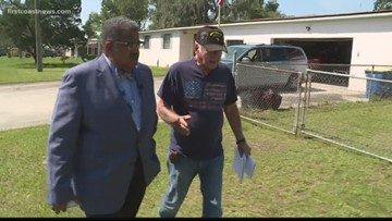 ON YOUR SIDE: Jacksonville veteran wants his fence fixed after a mailman mowed it down