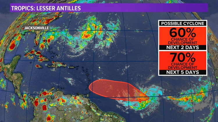 The best models agree, the developing Tropical cyclone will head away from us Sunday