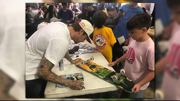 Ryan Sheckler, skateboarding elite make stop at Kona Skatepark