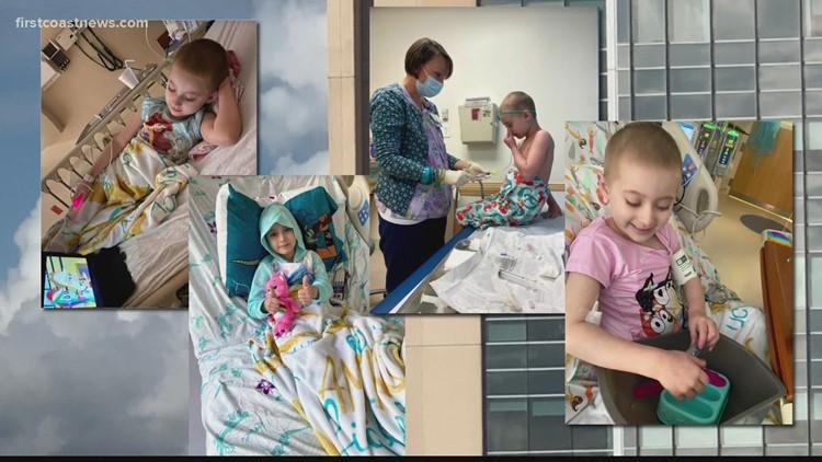 5-year-old Lucy smiles through neuroblastoma treatment