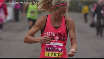 VIDEO | Florida woman attacked by pit bull while running marathon, she manages to cross finish line