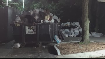 Residents argue trash overflow is becoming 'the norm' at Mandarin apartment complex