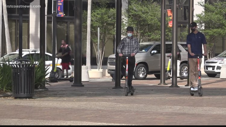 Scooters catching on in Downtown Jacksonville as city nears vote on ordinance expanding program