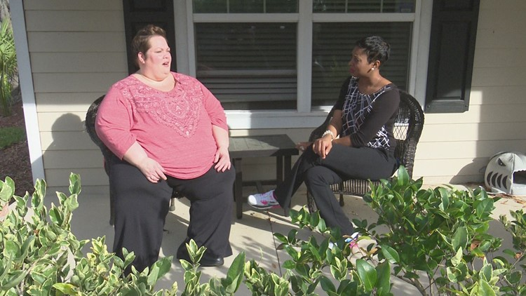 'It would make me feel embarrassed. I know what they're thinking': Jacksonville woman once 525 lbs, fights back against obesity