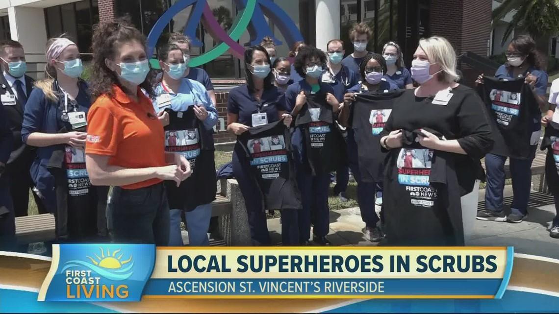 Saluting our 'Superheros in Scrubs' at Ascension St. Vincent's Riverside