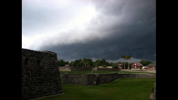 Castillo De San Marcos in storm_12647213