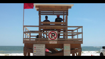 'Several' water rescues at Vilano Beach, red rip current flag flying