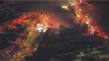 Boston firefighters battle giant 9-alarm fire