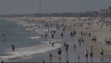 Near-record temperatures bring heatstroke dangers to beachgoers