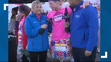 What's up with the fancy skirts, Tim? Why our chief meteorologist gets frilly for the Donna