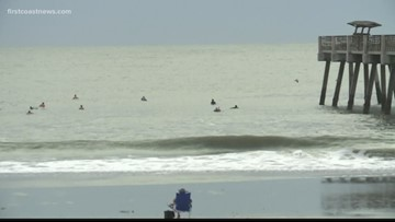 Surfers quick to take advantage of post-Dorian waves