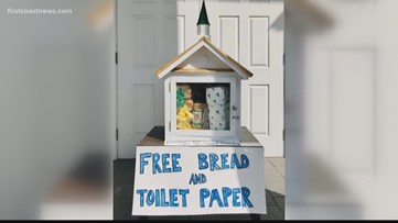 Local church gives out free bread, toilet paper
