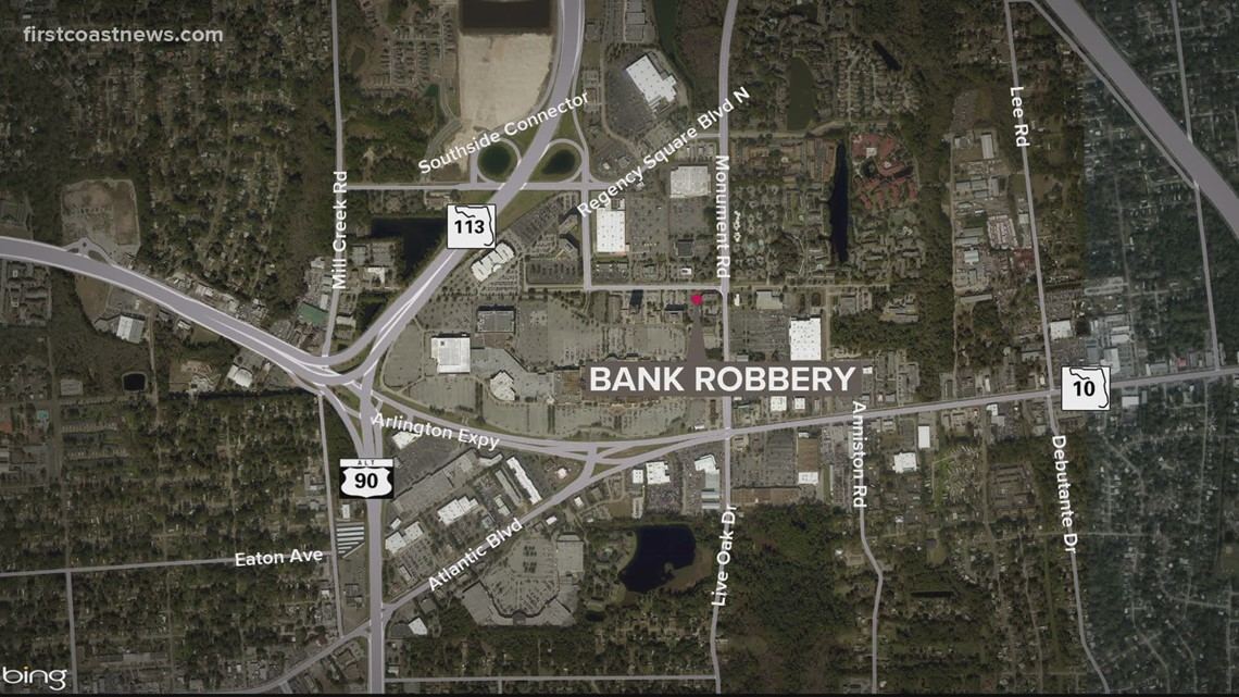 Third bank robbery in a week in Jacksonville
