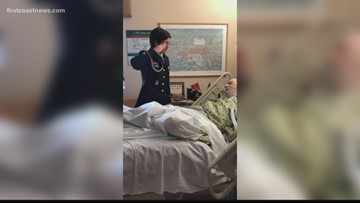 A Final Salute | Vets gather at bedside of dying man, fellow vet