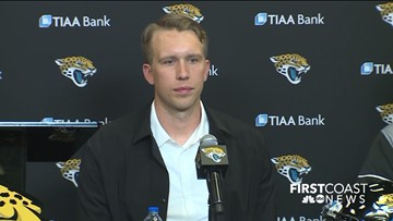 "Introducing Nick Foles: Jaguars new quarterback address media, fans, ""This is where I wanted to be"""
