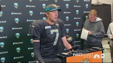 Jaguars QB Nick Foles addresses the media in first event since returning from injury