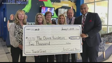 TEGNA Foundation and First Coast News donate to Donna Foundation