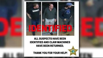 St. Johns County deputies identify claw machine bandits