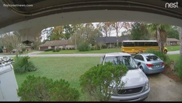 School bus safety a concern for a Clay County woman