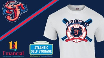 WINNER: Jumbo Shrimp release the winning design for its fan designed T-shirt competition