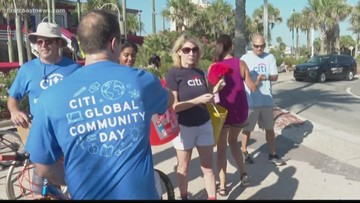 Dozens of volunteers clean Jax Beach